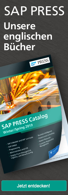 SAP PRESS - The Fall Catalog 2018-19 English Books and E-Bites