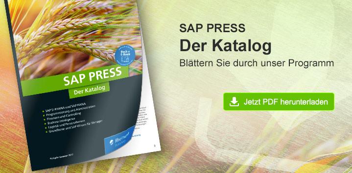 SAP PRESS - Der neue Katalog Frühjahr/Sommer 2017. Blättern Sie durch unser Programm. Jetzt PDF herunterladen!