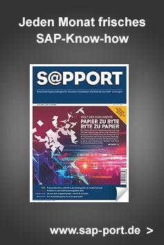 SAP-Fachzeitschrift: SAP-PORT mit monatlich neuen Themen
