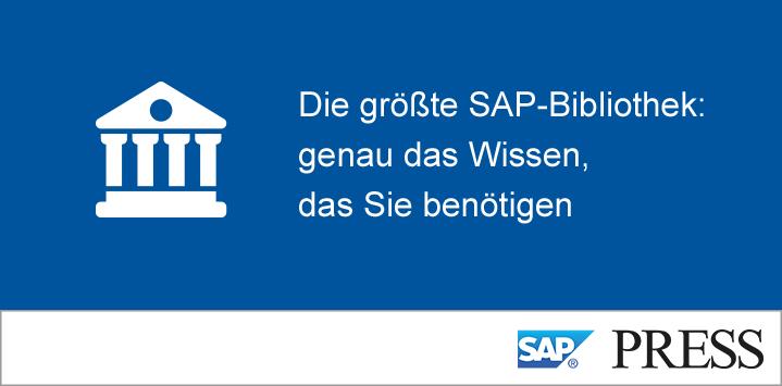 Die größte SAP-Bibliothek: Genau das Wissen, das Sie benötigen.
