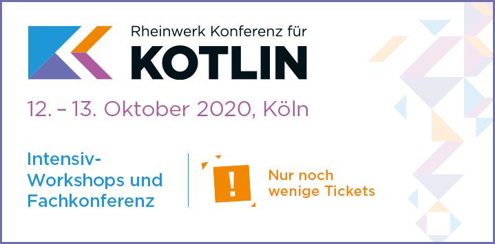 Rheinwerk Konferenz für Kotlin: Jetzt eines der letzten Präsenz-Tickets sichern!