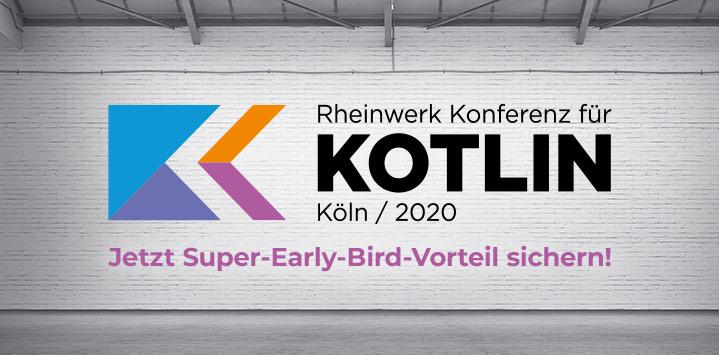 KKON: Rheinwerk Konferenz für Kotlin, Köln 2020 | Jetzt Super-Early-Bird sichern