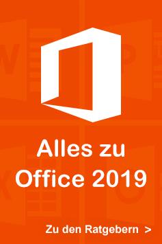 Entdecken Sie unsere Bücher zu Office 2019!
