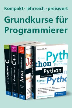 Grundkurse für Programmierer: Python, Java, C, C++