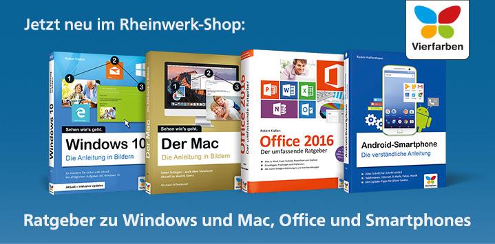 Jetzt neu im Rheinwerk-Shop: Ratgeber zu Windows und Mac, Office und Smartphones