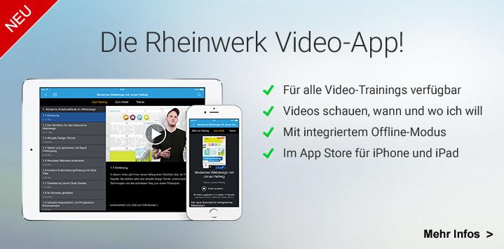 Die Rheinwerk Video-App!