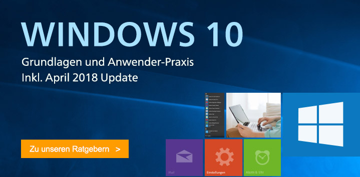 Unsere Bücher zu Windows 10