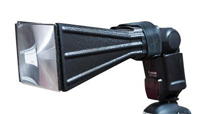 Blitzvorsatz für Telebrennweiten