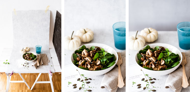 So wirkt ein endloser Hintergrund in Ihrem Food-Foto