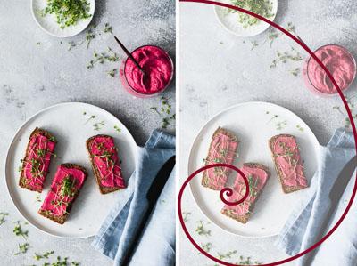 Die Fibonacci-Spirale in der Foodfotografie