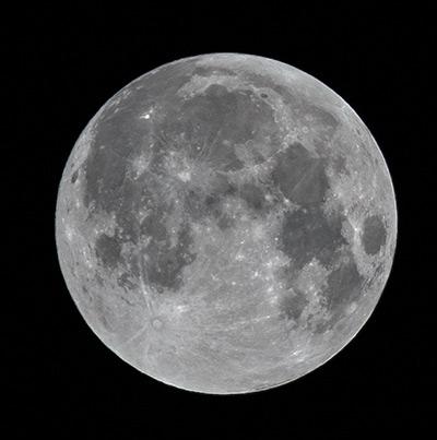 Typische Fotografie des Mondes