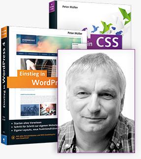 Einstieg in CSS und Einstieg in WordPress 4 von Peter Müller