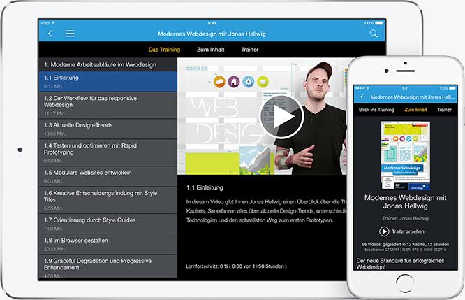 Rheinwerk Video App für iPad und iPhone