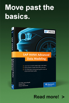 SAP HANA Advanced Data Modeling | SAP PRESS Book and E-Book