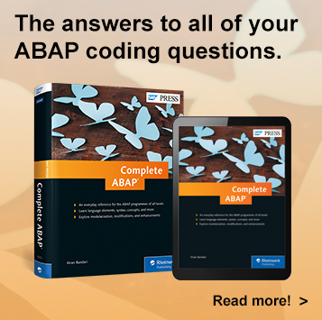 Complete ABAP l SAP PRESS Books and E-Books