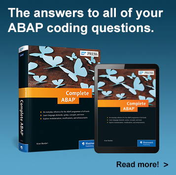 Complete ABAP - SAP PRESS Book