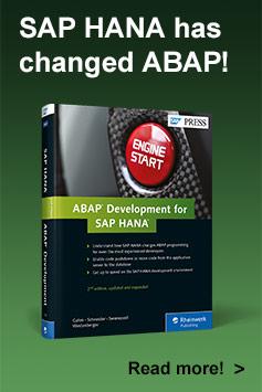ABAP Development for SAP HANA | SAP PRESS Books and E-Books