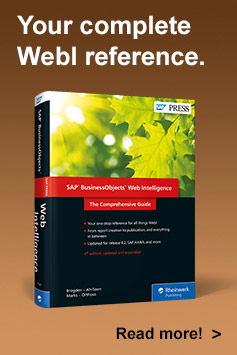 SAP BusinessObjects Web Intelligence, 4th Edition - SAP PRESS Book