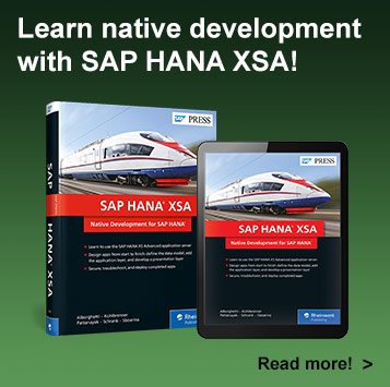 SAP HANA XSA: Native Development for SAP HANA | SAP PRESS Book and E-Book