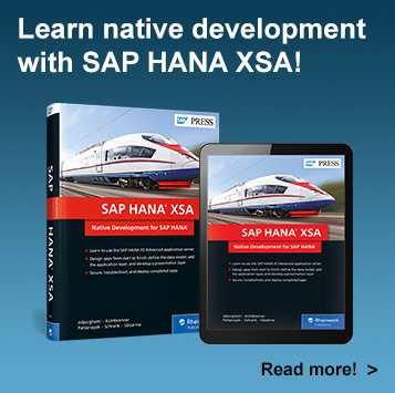 SAP HANA XSA: Native Development for SAP HANA | SAP PRESS Book and E-Book