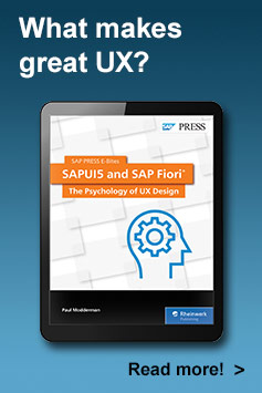 SAPUI5 and SAP Fiori: The Psychology of UX Design l SAP PRESS Books and E-Books