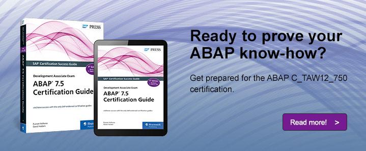 ABAP 7.5