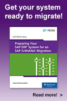 Preparing Your SAP ERP System for an SAP S/4HANA Migration l SAP PRESS Books & E-Books
