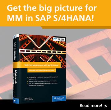 Materials Management with SAP S/4HANA | SAP PRESS Book and E-Book