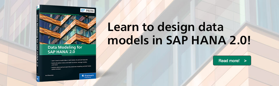 SAP HANA 2.0 Data Modeling
