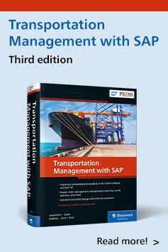 Transportation Management with SAP | SAP PRESS Books and E-Books