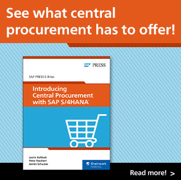 Introducing Central Procurement with SAP S/4HANA | SAP PRESS Books and E-Books