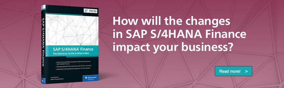 SAP S/4HANA Finance: What's New