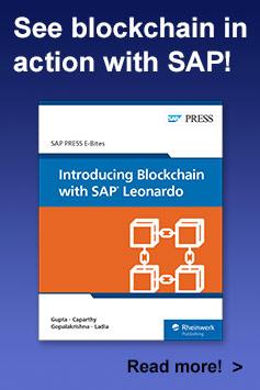 Introducing Blockchain with SAP Leonardo | SAP PRESS Books and E-Books