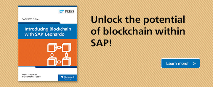 Blockchain with SAP