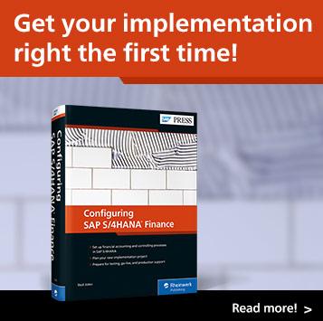 Configuring SAP S/4HANA Finance   SAP PRESS Books and E-Books