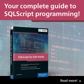 SQLScript for SAP HANA | SAP PRESS Books and E-Books
