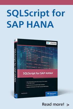 SQLScript for SAP HANA | SAP PRESS Books and E-Books