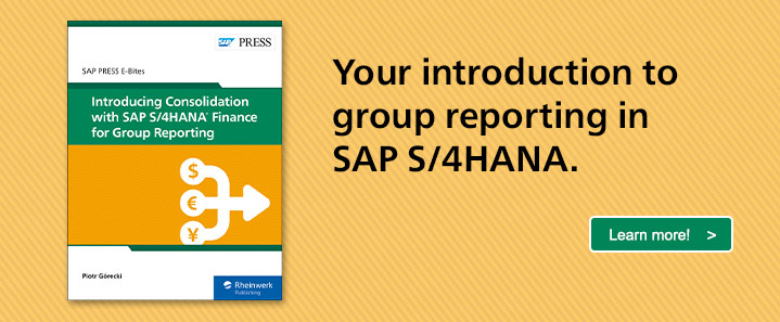 Consolidation with SAP S/4HANA