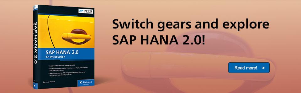 SAP HANA 2.0 Introduction