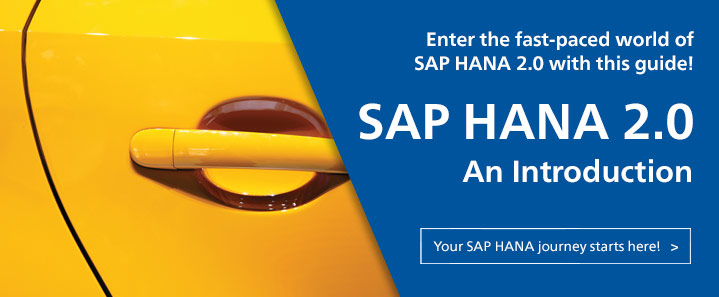 SAP HANA 2.0 Intro