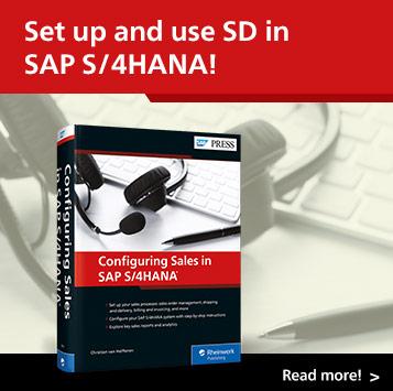 Configuring Sales in SAP S/4HANA | SAP PRESS Books and E-Books