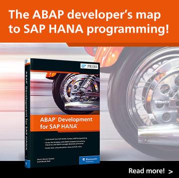 ABAP Development for SAP HANA   SAP PRESS Books and E-Books