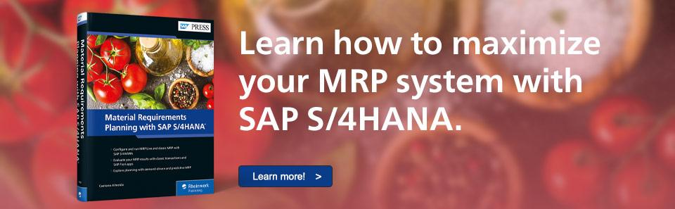 MRP with SAP S/4HANA