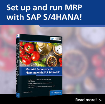 Material Requirements Planning with SAP S/4HANA | SAP PRESS Books and E-Bites