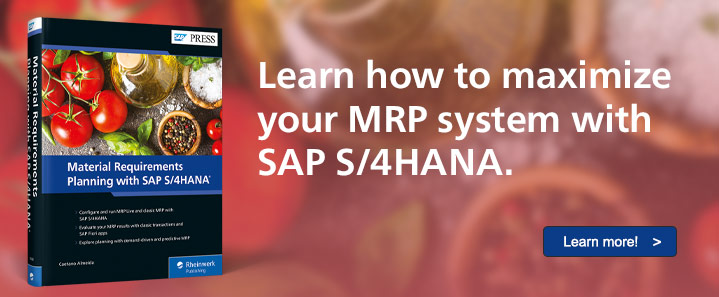 MRP with SAP S/4HANA