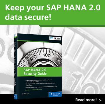 SAP HANA 2.0 Security Guide | SAP PRESS Books and E-Books