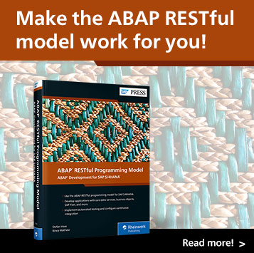 ABAP RESTful Programming Model: ABAP Development for SAP S/4HANA | SAP PRESS Books and E-Books