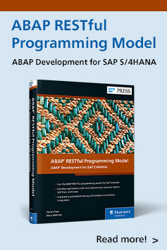 ABAP RESTful Programming Model | SAP PRESS Books and E-Books