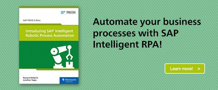 SAP Intelligent RPA