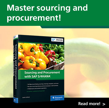Sourcing and Procurement with SAP S/4HANA | SAP PRESS Books and E-Books